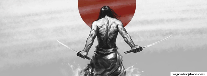 Japanese samurai Facebook Cover