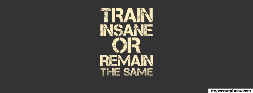 Train insane or remain the same Facebook Cover