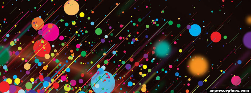 Abstract Color Streak Facebook Cover